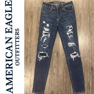 American Eagle NeXt Level Stretch Ripped Jeggings